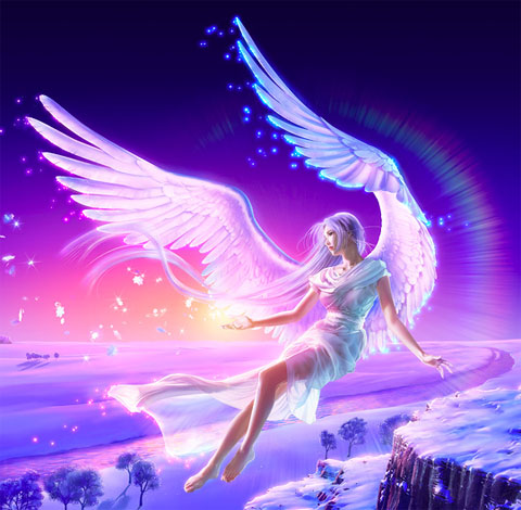 Прекрасный ангел, картинка к стихам Анны Купровской