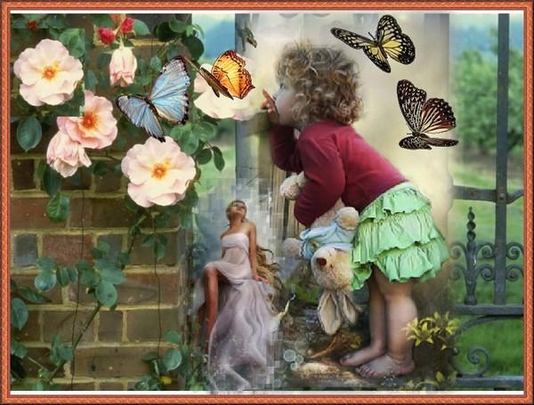 Анимация Дети Цветы