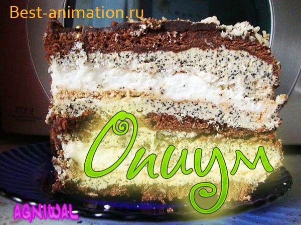 Торт Опиум на День Рождения