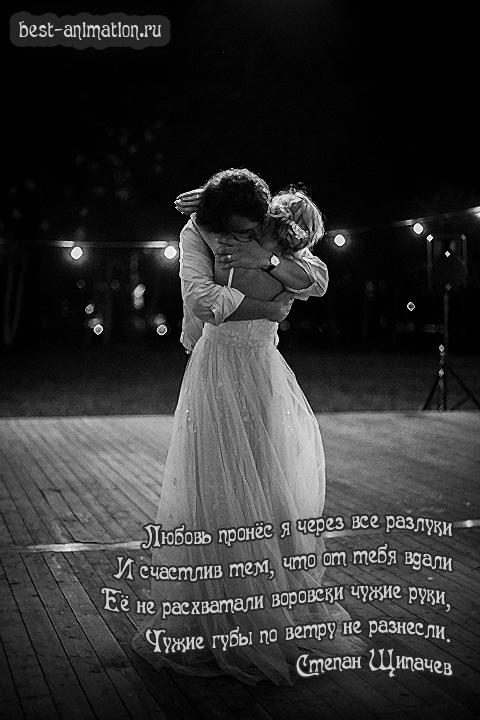 Картинка со стихами Любимой Любовь пронес через разлуки