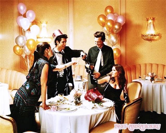 С Новым Годом поздравление картинка, фото Праздник