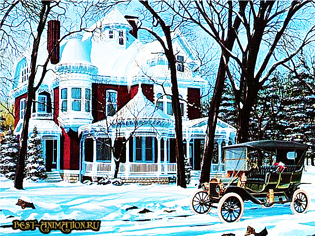 Новогодняя картинка и фото для любимых людей Большой дом