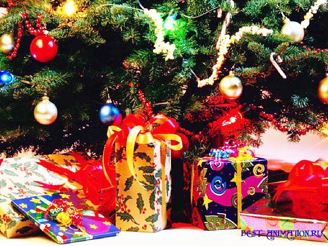 Новогодняя картинка, новогоднее фото  подарок Игрушки