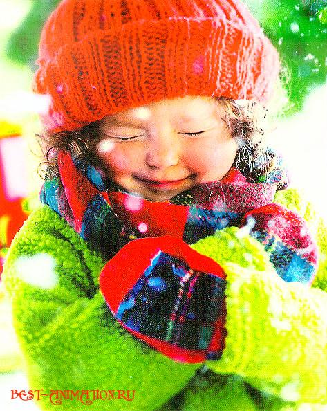 Новогодняя картинка, новогоднее фото подарок Ребенок
