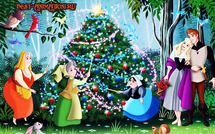 С Новым Годом поздравление картинка, фото Новогодняя Елка