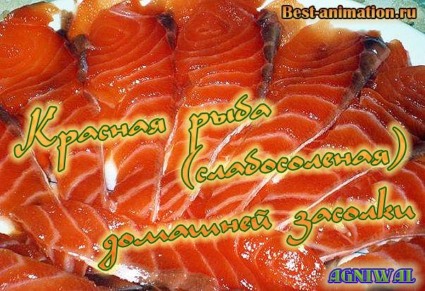 Красная рыба (слабосоленая) домашней засолки на Новый год