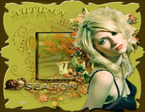 Открытка Осень Блондинка