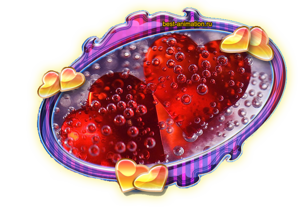 Открытка Сердечки Пузырьки