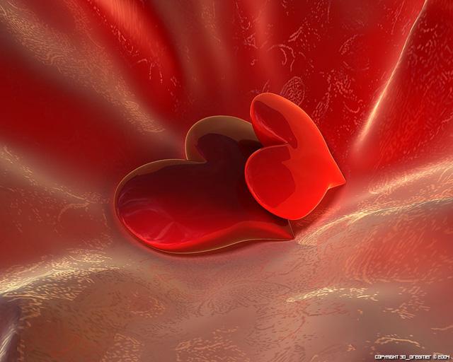Картинка на День Всех Влюбленных Два сердца