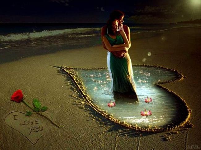 Картинка на День Всех Влюбленных Сердце и роза