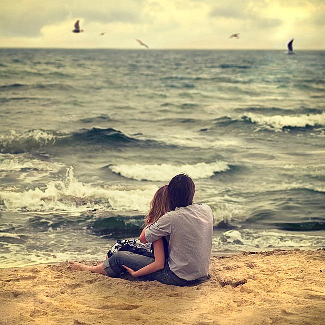 Картинка на День Валентина У моря