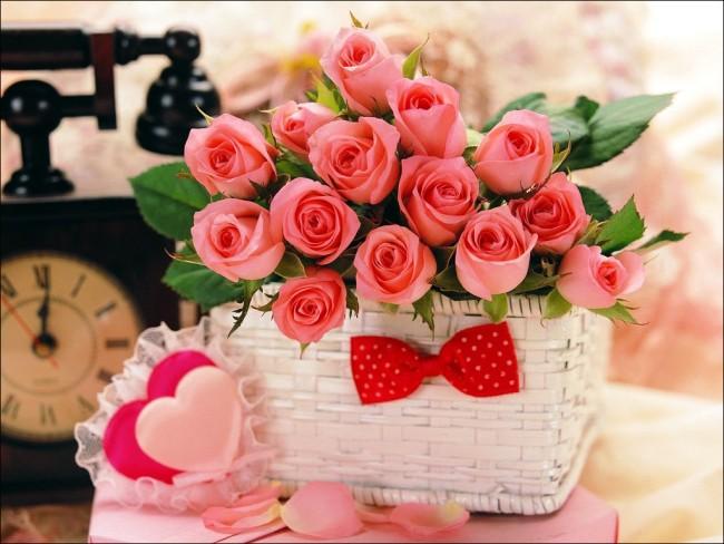 Картинка на День Валентина Розовые розы