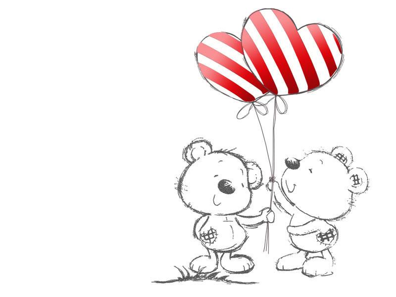 Картинка на День Всех Влюбленных Мишки