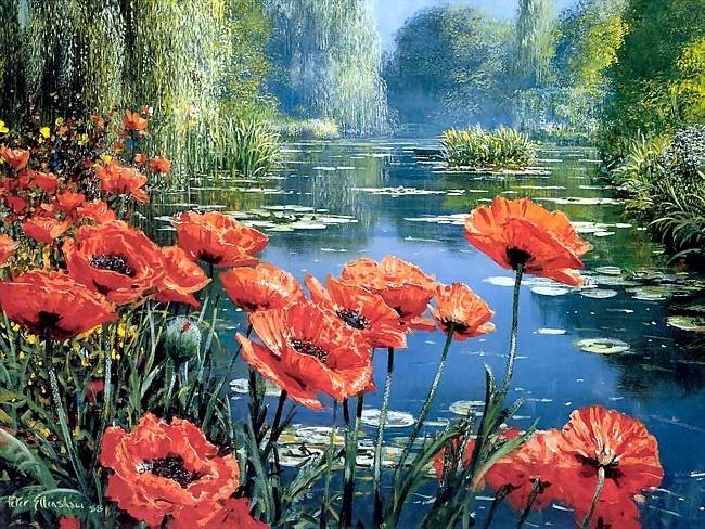 Картинка на День Всех Влюбленных Красные цветы