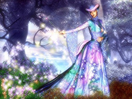 Волшебница в лесу, картинка к стихам Анны Купровской