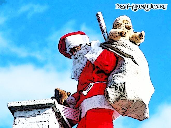 Новогодняя картинка, новогоднее фото подарок Гость
