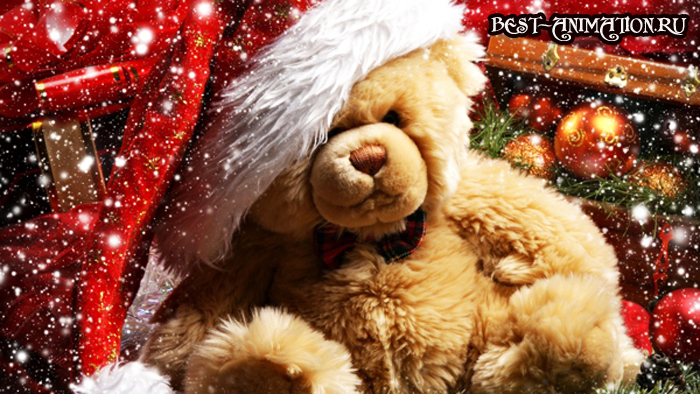 Новогодняя картинка, новогоднее фото  подарок Дружок