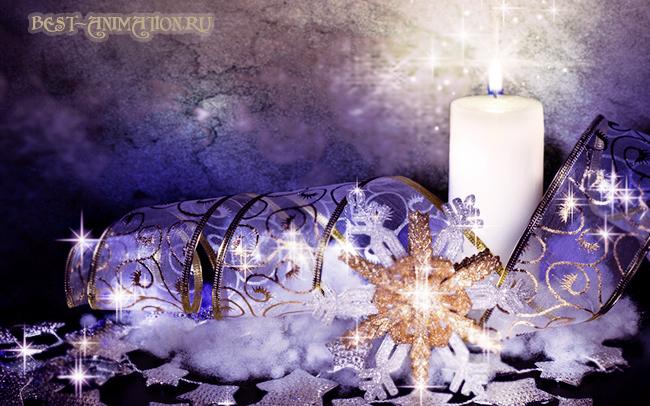 Новогодняя картинка и фото для любимых людей Снежинки