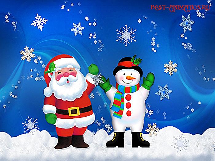 Новогодняя картинка и фото для любимых людей Снеговик