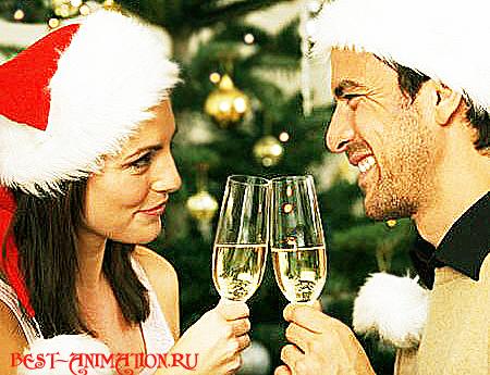 С Новым Годом поздравление картинка, фото Бокалы