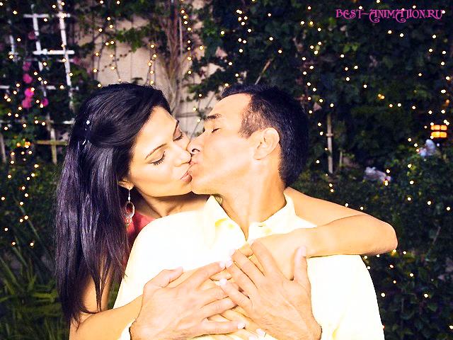 Новогодняя картинка и фото для любимых людей Влюбленные